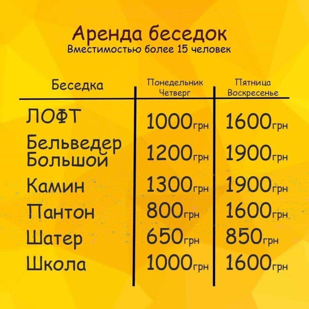 Рино парк аренда беседок гриль зона киев