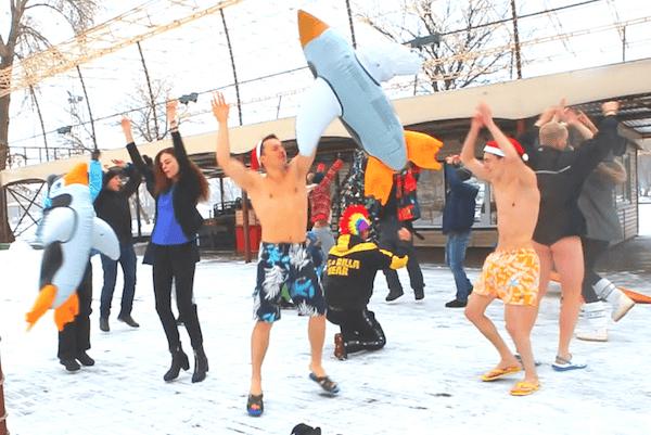Xpark, экстримпарк, Киев, Украина. Зима. зимние развлечения, баня, сауна, баня с веником, попариться в сауне, моржи, пингвины, чаны, баня в чане, беговые лыжи, дрифт на льду, барбекю, глинтвейн, квадроциклы, каток, коньки, битва снеговиков,