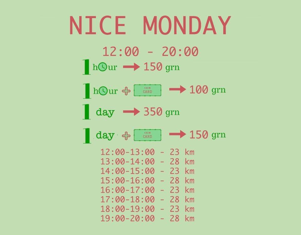 Nice monday расписание вейкборд